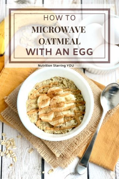 How To Microwave Oatmeal With An Egg